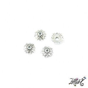 Tibeti ezüst gyöngykupak, csillag