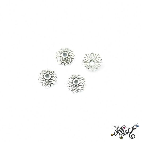 Tibeti ezüst gyöngykupak, csillag 1