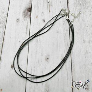 Viaszolt szál nyaklánc alap – fekete (1db)