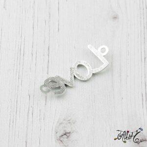 """Tibeti ezüst """"Love"""" – összekötő medál"""