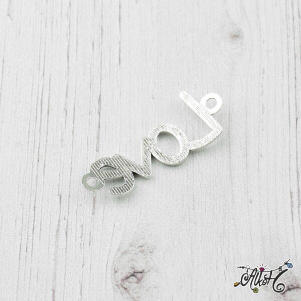 """Tibeti ezüst """"Love"""" - összekötő medál 1"""