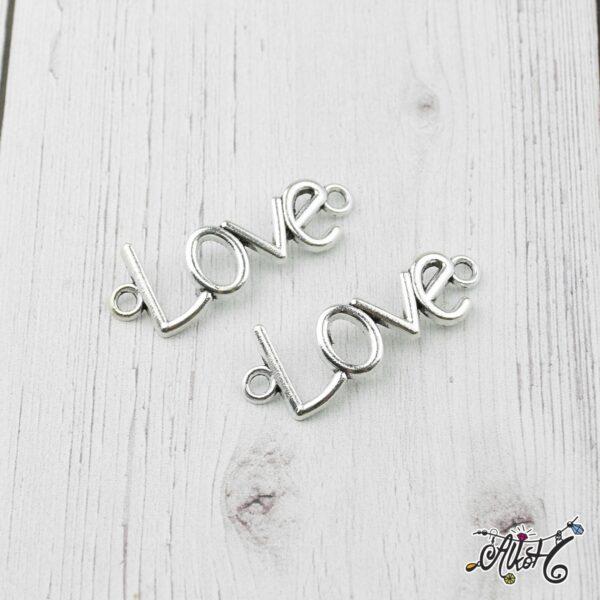 """Tibeti ezüst """"Love"""" - összekötő medál 2"""