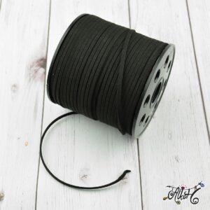 Velúr hatású szál – fekete (1méter)