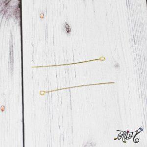 Hurkos szerelőpálca – arany, 5 cm (20 db)