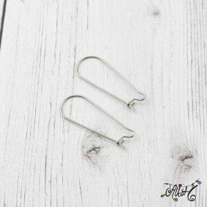 Orvosi fém akasztós fülbevaló alap (1 pár)