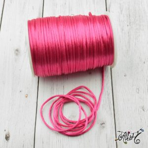 Szatén zsinór – pink, 2mm