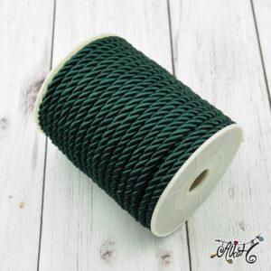 Selyemfényű sodrott zsinór – smaragd zöld, 5mm