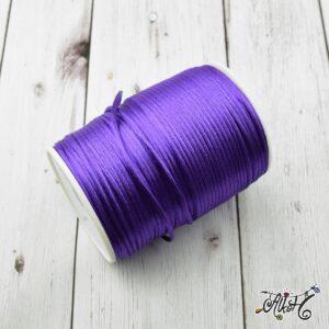 Szatén zsinór – lila, 2mm
