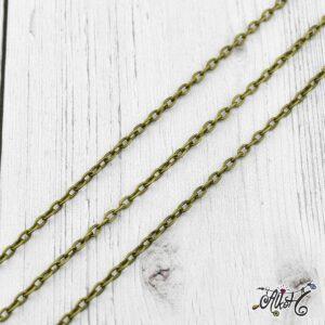 Antik bronz lánc 4 x 2,7mm – 1 méter