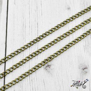 Antik bronz lánc 5×4 mm – 1 méter