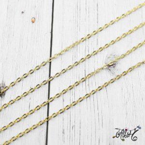 Arany színű lánc 4×3 mm – 1 méter