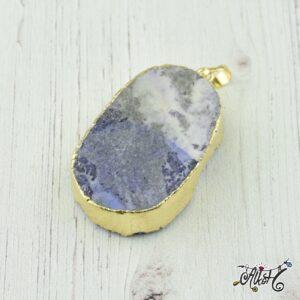 Achát ásvány medál – fehér-lila