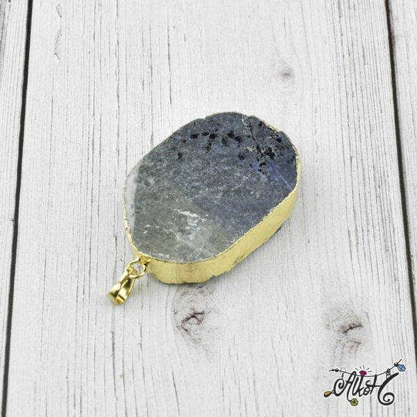 Achát ásvány medál - lila-fehér 2