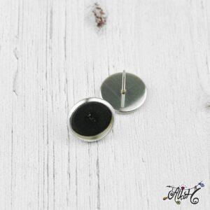 Orvosi fém bedugós fülbevaló alap (12mm)