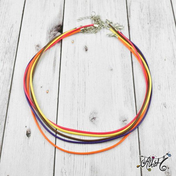 Viaszolt szál nyaklánc alap csomag - őszi mix (5db) 1