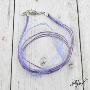 Organza nyaklánc alap – világos lila