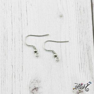 Orvosi fém fülbevaló akasztó (1 pár)