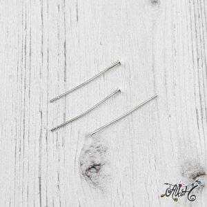 Szerelőpálca talpas – ezüst, 3 cm (20 db)