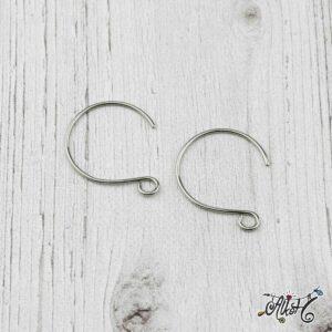 Orvosi fém íves fülbevaló akasztó (1 pár)