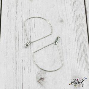 Orvosi fém csepp fülbevaló alap (1 pár)