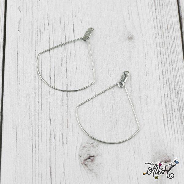 Orvosi fém csepp fülbevaló alap (1 pár) 1