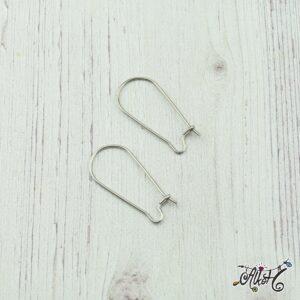 Orvosi fém akasztós fülbevaló alap – 2,5 cm (1 pár)