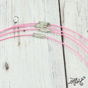 Sodrony nyaklánc alap – rózsaszín
