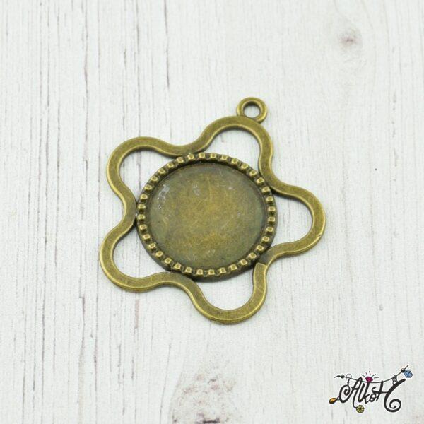 medal-alap-virag-antikbronz