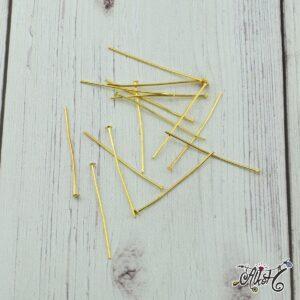 Szerelőpálca talpas – arany, 3,2 cm (20 db)