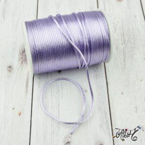 Szatén zsinór – világos lila, 2mm