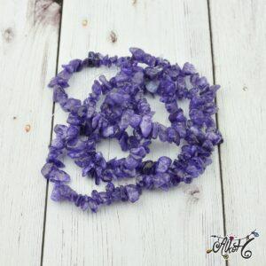 Ásványfüzér – lila ametiszt