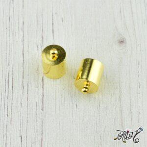 Végzáró kupak – arany, 14x10mm