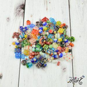 Millefiori gyöngy válogatás – 2 (kb. 140 db)