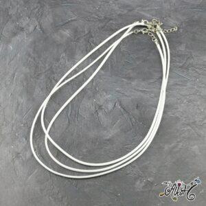 Viaszolt szál nyaklánc alap – fehér (1db)