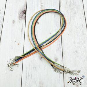 Viaszolt szál nyaklánc alap csomag – natural II. mix (5db)