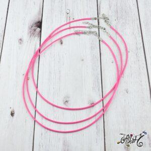 Viaszolt szál nyaklánc alap – pink (1db)