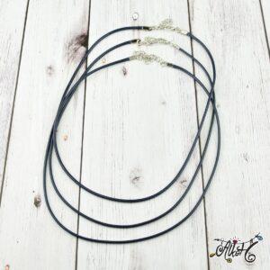 Viaszolt szál nyaklánc alap – sötétkék (1db)