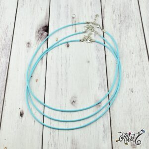 Viaszolt szál nyaklánc alap – türkiz (1db)