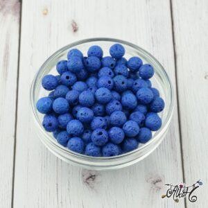 Kék lávakő ásványgyöngy 8 mm (10 db)