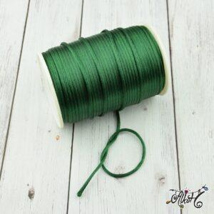 Szatén zsinór – smaragdzöld, 2mm