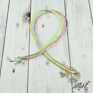 Viaszolt szál nyaklánc alap csomag – pasztell mix (5db)